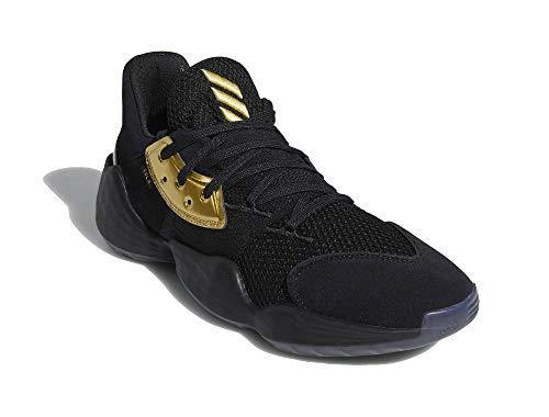 adidas Hombre Harden Vol. 4 Zapatos de Baloncesto Negro, 48