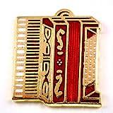 限定 レア ピンバッジ 赤いアコーディオン音楽ミュージック楽器 ピンズ フランス