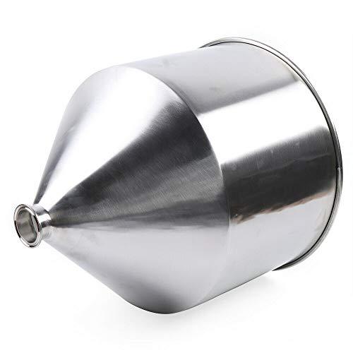 Fetcoi Embudo de 40 l de acero inoxidable 304 Hopper, embudo de llenado de pasta, recipiente de acero inoxidable industrial, para alimentos y máquinas de llenado de pasta