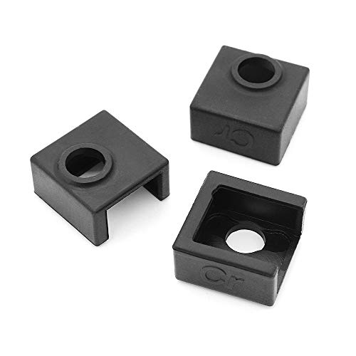 Hensych Creality Upgrade Heater Block Silicone Cover MK7/MK8/MK9 Hotend for Creality CR-10, 10S, 10S4, 10S5, Ender 3, CR20