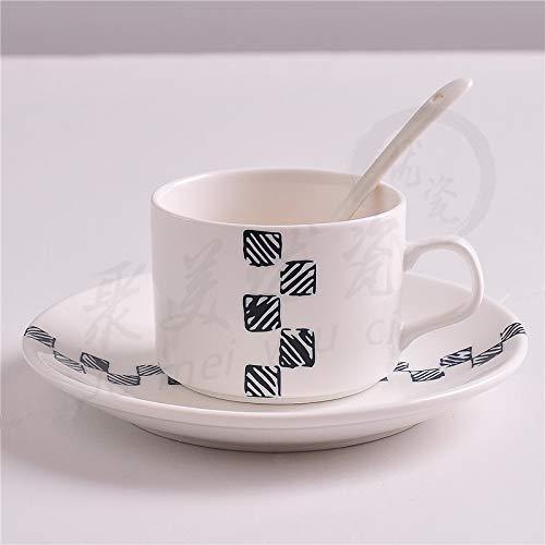 Mugs Tasses Tasse À Café en Porcelaine Empilable Tasses À Café Blanches De 200 ML Tasses À Thé Verres À Café Drinkware Cuisine Dining, D