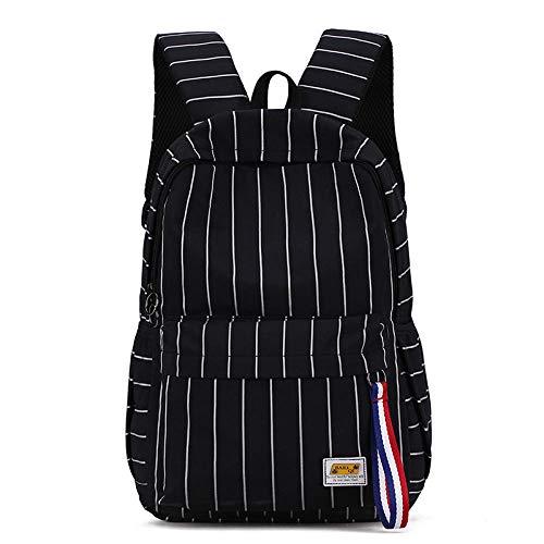 Stijlvolle kleine reistas frisse orthopedische rugzak van linnen voor meisjes studenten van Secdaria handtas mode, blue (zwart) - wwttoo 19/8-161