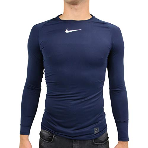 Nike Herren Pro Long Sleeved T-shirt, blau (Obsidian/White),XL