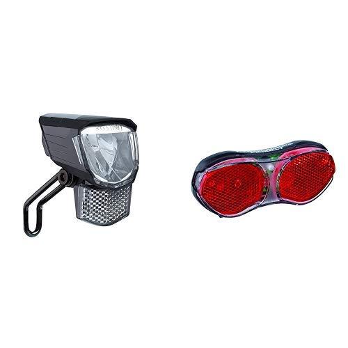 """Büchel LED-Frontscheinwerfer \""""Tour\"""", 45 Lux, mit Standlicht, StVZO zugelassen, schwarz, 51251511, schwarz & Büchel – Erwachsene Led Gepäckträger Rücklicht Piccadilly, schwarz, 11.69 x 5.02 x 1.79 cm"""