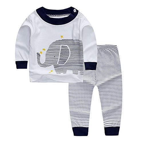 BenCreative Conjunto de Pijamas de algodón para niña bebé Conjunto de Manga Larga y pantalón de Dibujos Animados Niño pequeño Ropa de Dormir/Camisones Ropa para niños de 0 a 4 años