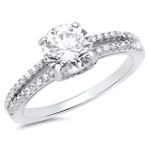 Hochwertiger Unique Verlobungsring aus 925 Silber mit Zirkonia VR0030