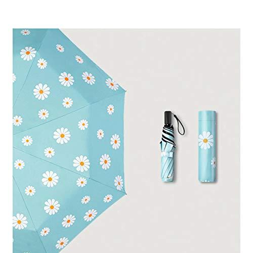 N-B Clear Umbrella, Creative Manual Three-fold Umbrella, Sunscreen Small Fresh Umbrella, Mini Convenient Umbrella