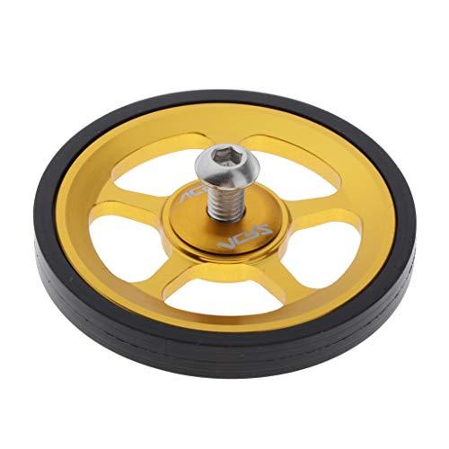 perfeclan Premium Easy Wheel Felge Ultraleichte Aluminiumlegierung Gummi Rad für Brompton Faltrad - Gold