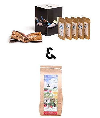 """TRY Salz & Brot Geschenkset I Gourmet Geschenk zum Umzug, Einzug, Hauskauf oder Hausbau I Ideales Einweihungsgeschenk für das neue Zuhause I Geschenkbox bekannt aus """"Höhle der Löwen"""""""