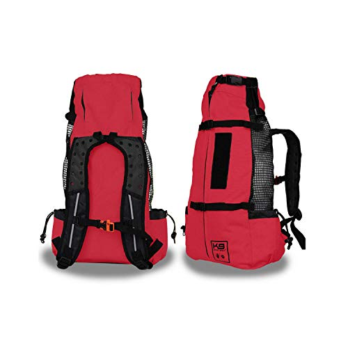 K9 Sport Sack | Dog Carrier Backpack for Small and Medium Pets | Front Facing Adjustable Dog Backpack Carrier | Fully Ventilated | Veterinarian Approved (Medium, Air - Ruby Red)