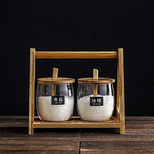 Gebrandschilderd glas Kruiden Potten Suikerpot Scandinavische Keramische Zoutvaatje Kruiden Box Set Home Restaurant Keuken Kruiden Gereedschap, 2st-A1