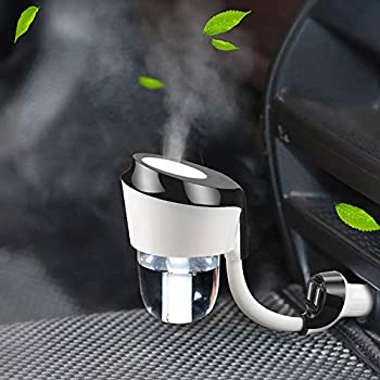 EEssen Car Diffuser Humidifiers Essential Oil Diffusers with Dual USB Car Charger Adapter for Vehicle Automobile Black