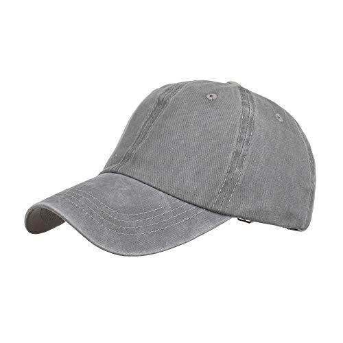 VOASTEK Baseball Cap Men Women, Adjustable Plain Trucker Dad Hat Perfect for Running Workouts and Outdoor Activities