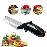 Bongles Nahrungsmittelzerhacker Edelstahl-Messer Und Schneidebrett 2 in 1, Schnellen Und Einfachen Schneiden in Der Küche Als Lebensmittelscheren, Lebensmittel Schere
