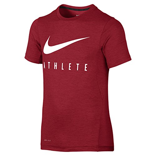 Nike - B Top SS DF Training GFX - Maillot Mangue Courte - Rouge - S - Garçon