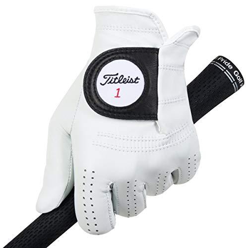 Titleist Players - Guantes para hombre (mano derecha, talla XL), color blanco