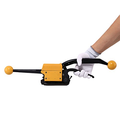 BestEquip A333 Steel Strapping Tool, Manual Sealless Strapping Tool, Steel Belt Packing Machine,...