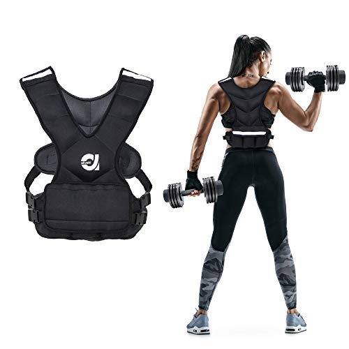 ATIVAFIT Sport Weighted Vest 16 LBS for Men & Women, Workout Equipment Body Weight Vest with Pocket, Reflective Stripe and Adjustable Strap, Weighted Body Vest for Training, Jogging, Cardio