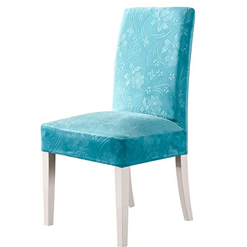 BAIDEFENG 2/4 / 6pcs Dining Chair Cover Schonbezug Modern Abnehmbare Anti-Dirty Kitchen Seat Case Stretch Stuhlhussen für Home Bankette,Lake Blue,4 pcs