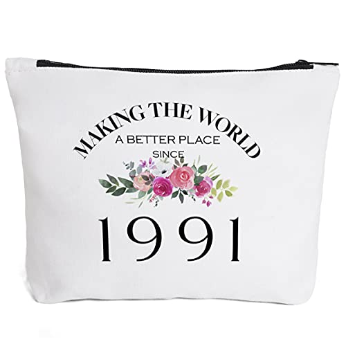 30th Birthday Gifts for Women Daughter Granddaughter Mom Aunt BFF Friends Bestie Teacher Boss Coworker-Making The World Since 1991- 30 Years Old Gifts Ideas For Women Turning 30 for Wife Sisters Her