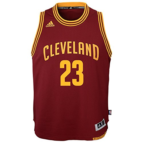 Adidas Lebron James Cleveland Cavaliers NBA Youth Bambini Swingman Jersey Maglia - Red