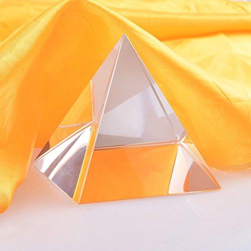 Longwin Kristall-Reiki-Pyramide für Feng Shui, heilende Ornamente, Energiegenerator, Glas, 100 mm