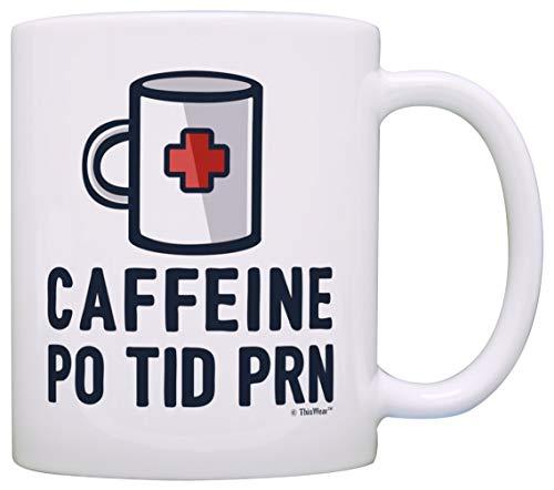 Regalos de graduación para enfermeras, cafeína, regalo de prescripción, taza de té