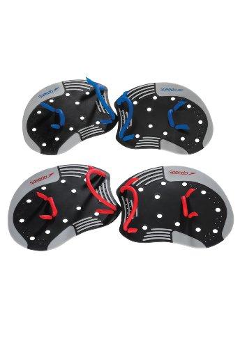Speedo Unisex Swim Training I.M. Tech Paddles,Black/Red,Medium-Large