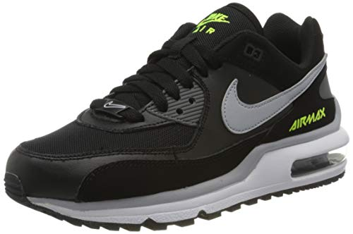 Nike Air Max Wright BG, Sneakers Basses Mixte Enfant, Noir (Black/Wolf Grey-Volt 001), 39 EU