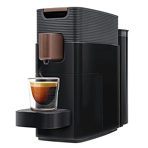 K-fee ONE Verismo Compatible Single Serve Coffee/Espresso Machine (Black/Copper) | Compact Design | 27 oz Reservoir