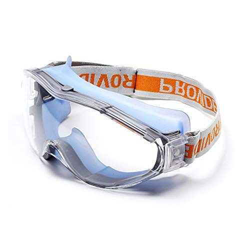 TOMYEER Anti-Speichel-Brille, Anti-Tropfen-Brille, unisex, High Definition Nebel-Sicherheitsbrille, Schutzbrille
