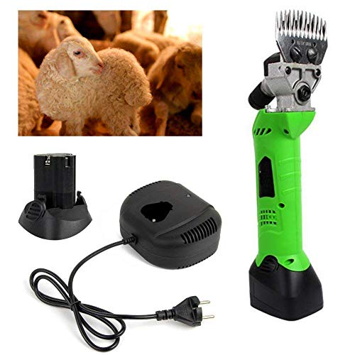 Cordless Shears Electric Clipper Machine for Sheep Cattle Horse, Built in...