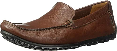 Clarks Men's Hamilton Free Driving Style Loafer, Cognac Leather, 9 M US