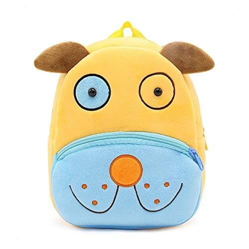 Haioo Mochila Infantil para Niños con Figuras de Animales Bonitos Mochilas Escolares para Niños 2-4 Años (Perro)