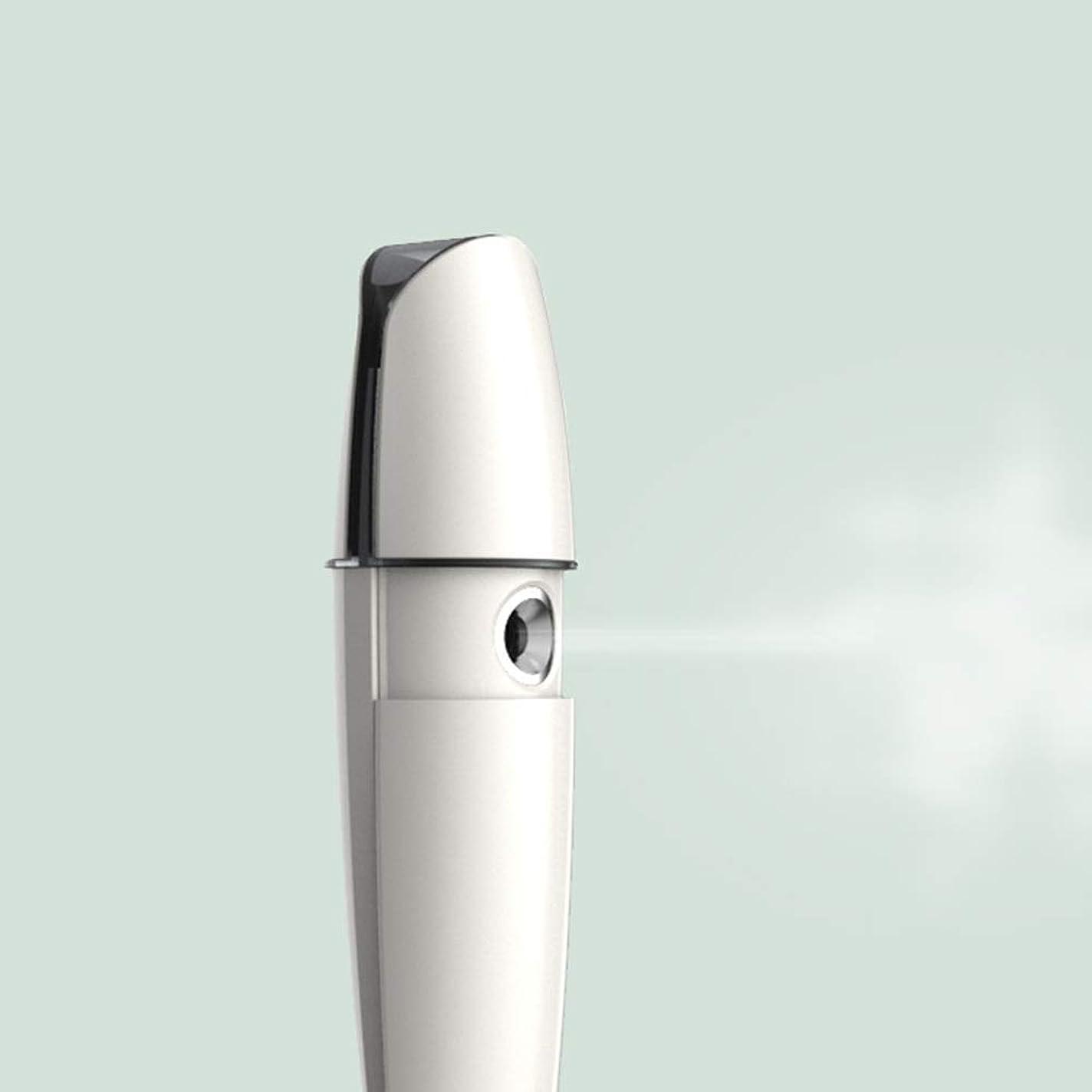 無駄だ案件通行人ZXF 充電式コールドスプレー機家庭用スチームフェイス美容機器ナノスプレーフェイス加湿水道メーターホワイトABS素材 滑らかである
