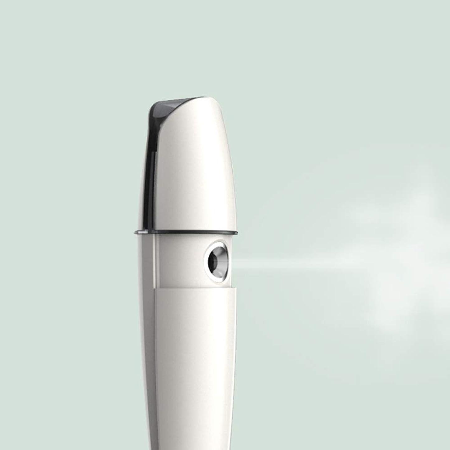 見せます挽く賛美歌ZXF 充電式コールドスプレー機家庭用スチームフェイス美容機器ナノスプレーフェイス加湿水道メーターホワイトABS素材 滑らかである