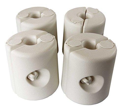 AKTIONA Pavillon Standfuß Victoria 4-er Set Gewicht Standfuss Standfüße Standsicherung Fuß Fuss Gewichte Halterung Festzelt Bierzelt