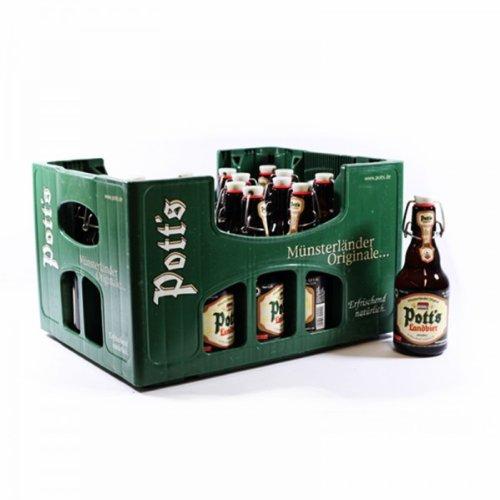 20 Flaschen Pott´s Landbier Bügelflaschen inc.3.00€ MEHRWEG Pfand Münsterländer Orginal a 0,33l Pott