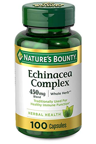 Nature's Bounty Echinacea Complex Pills and Herbal Health Supplement, Supports immune Function, 450mg, 100 Capsules