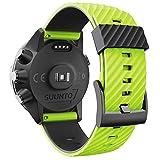 WIIKAI Correa de repuesto compatible con Suunto 7/9/9 baro/Spartan sport/D5, correa de reloj de silicona (verde + negro)