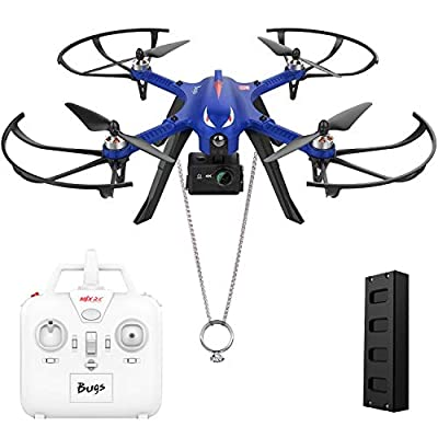 DROCON Bugs 3 Brushless Motor Drone, RC Quadcopter 2 speeds for Beginners and Experts with Long Working Time ? Long Control Range, 3D ROLLS & FLIP Supports GoPro HD Camera Blue