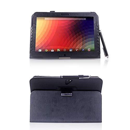 AFesar Schutzhülle für Google Nexus 10 Tablet, Kunstleder, mit Standfunktion, für Samsung GT-P8110 25,7 cm (10,1 Zoll), Schwarz