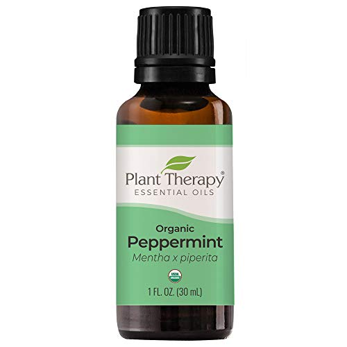 Plant Therapy Organic Peppermint Essential Oil 100% Pure, USDA Certified Organic, Undiluted, Natural Aromatherapy, Therapeutic Grade 30 mL (1 oz)