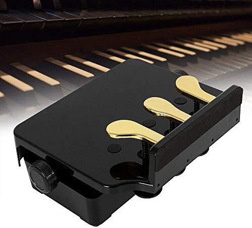 Relaxbx Piano Pedaal Verlengbank voor Kinderen Verstelbare Hoogte met 3 Pedalen Kinderen Piano Leerhulp Accessoire Zwart DHL