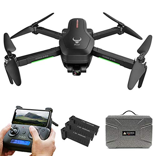 SG906 PRO 2 5GWIFI 4K HD Aerial Photography Drone, Three Axis Anti-shake Gimbal GPS Follow Finger Gestures Drone with Suitcase, 3 Batteries