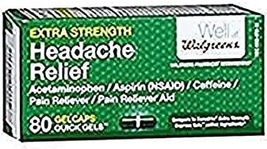 Walgreens Extra Strength Headache Relief Quick Gels Gelcaps, 80 ea