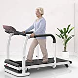 KINGC Folding Walking Machine for Elderly Home Adjustable Electric Incline Treadmill Home Gym Aerobic Exercise Fitness Equipment with Safety Handrails and LED Display Max Load 530lbs