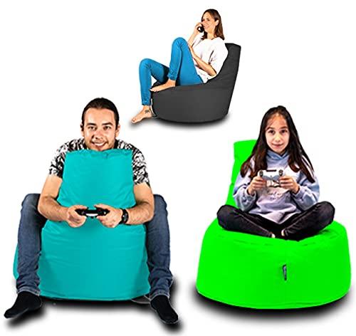 BuBiBag Sitzsack Gamer Playstation Sessel Lounge Kissen original Sitzkissen für In & Outdoor geeignet fertig befüllt mit EPS Styroporfüllung in 31 Farben erhältlich (80cm Durchmesser,Camouflage)