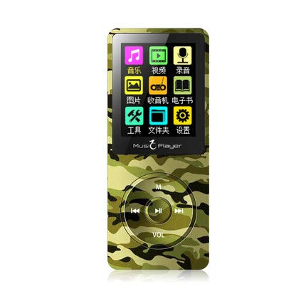 MeterMall Draagbare Ultrathin HiFi MP3 MP4 Speler Radio FM Opname E-book Map Walkman Speaker Camouflage 4 GB