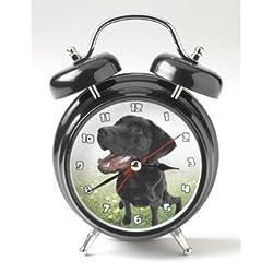 Mark Feldstein Wacky Wakers Black Lab Alarm Clock